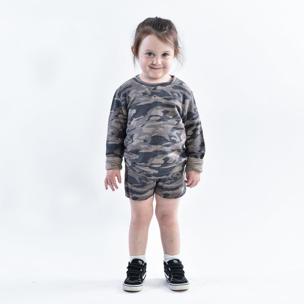 Kids Camo Crew Neck Sweatshirt