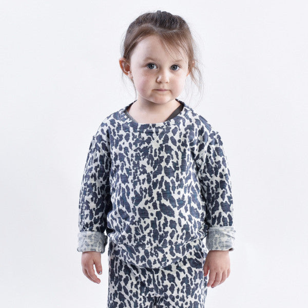 Kids Leopard Crew Neck Sweatshirt