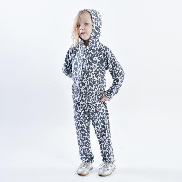 Kids Leopard Zip Up Hoody