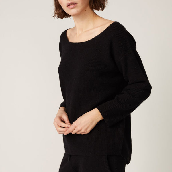 Cashmere Off Shoulder Sweater