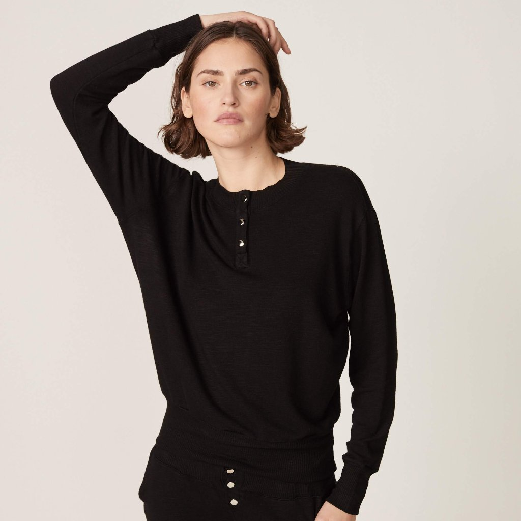 Supersoft Henley Sweatshirt