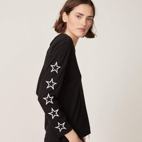 Embroidered Star Slouchy Top