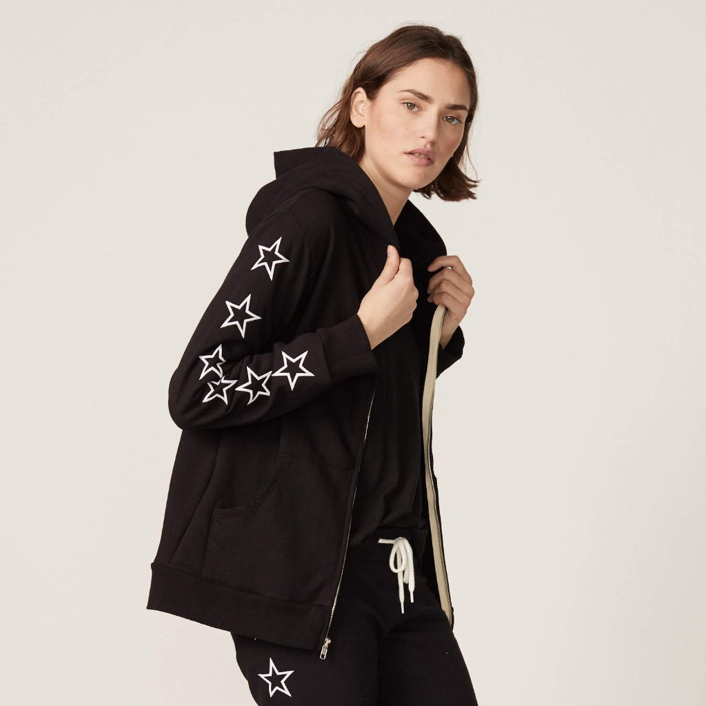 Embroidered Star Hoody