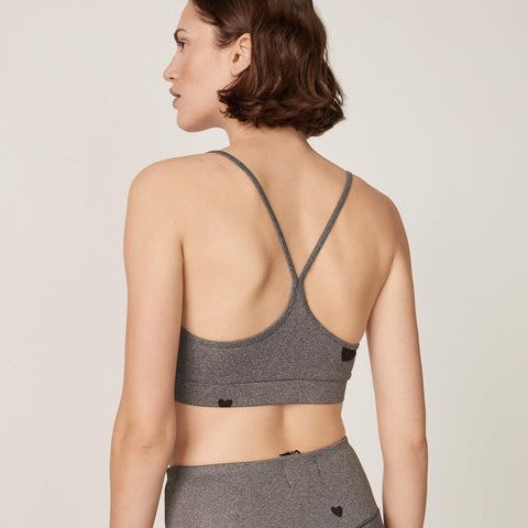 Scattered Heart Sports Bra