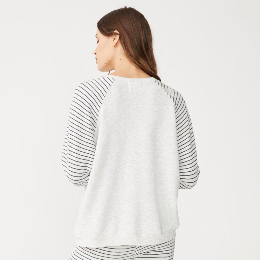 Supersoft Pinstripe Love Raglan
