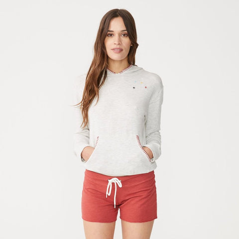 Supersoft Blanket Stitch Pullover Hoody