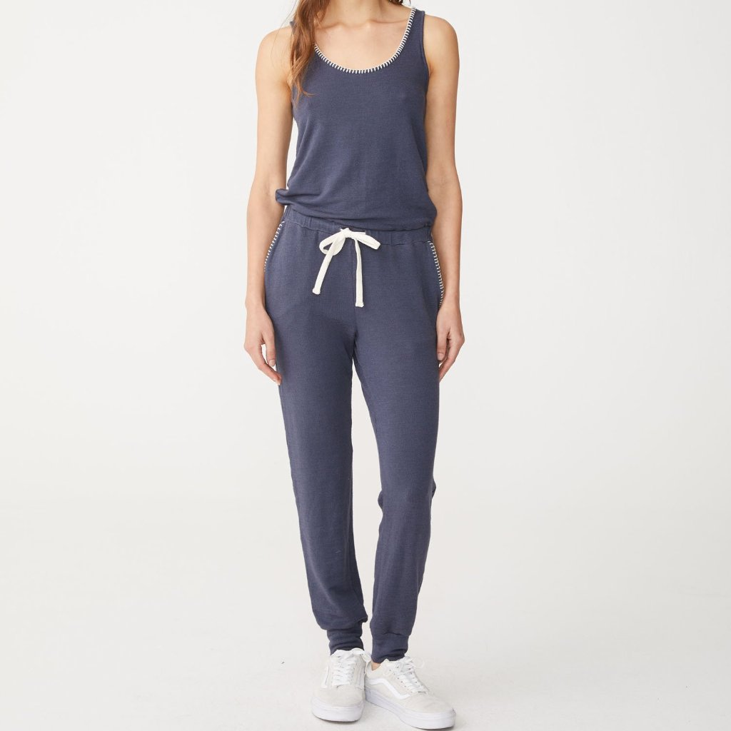 Supersoft Blanket Stitch Jumpsuit