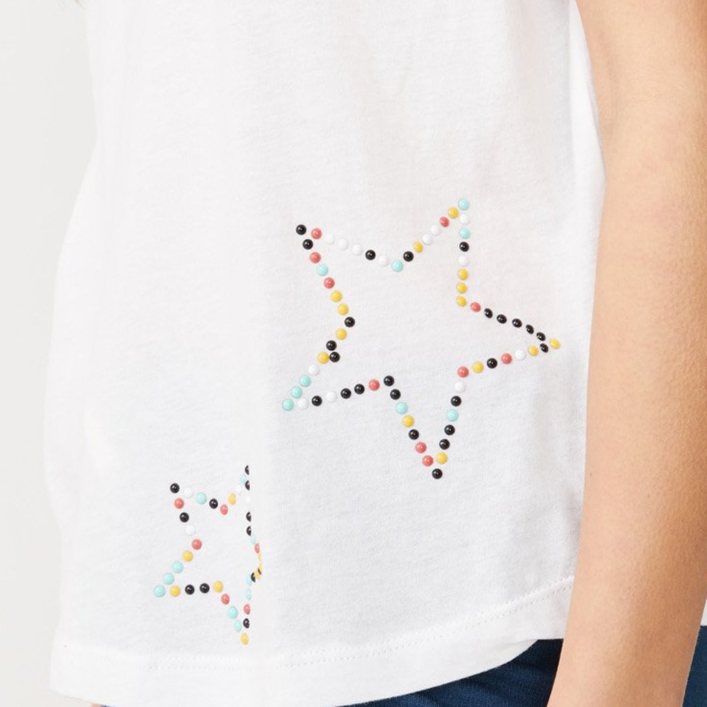 Beaded Star Crew Neck