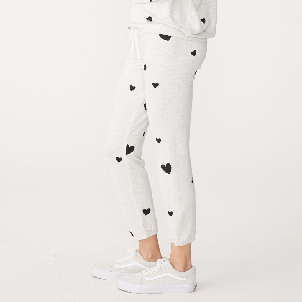 Supersoft Scattered Heart Sweats