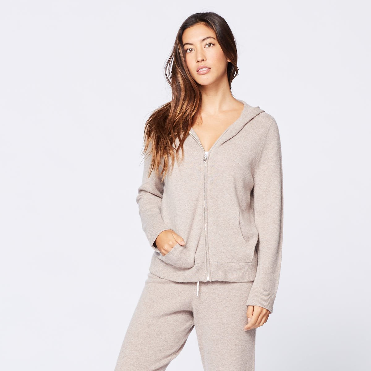 Cashmere Zip Up Hoody (9657446479)