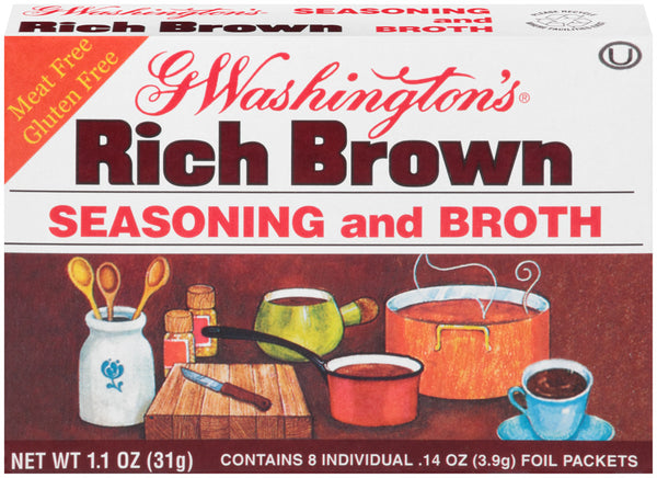 G Washington Seasoning and Broth Rich Brown