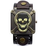 Skull Leather Watch