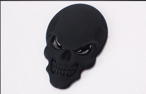 3D Metal Skull Motorcycle/Car Decals (3 Different Colors)