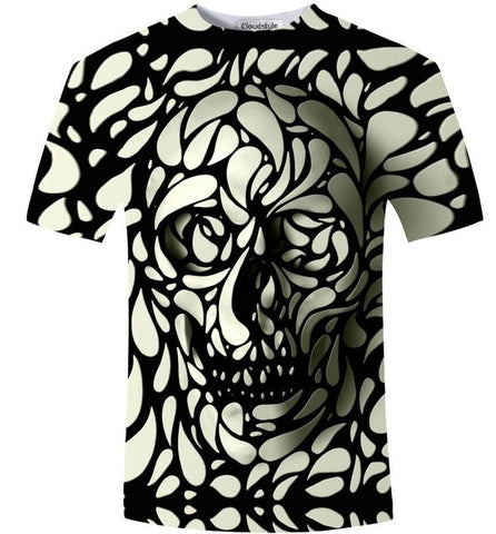 3D Skull T-Shirt (ASIAN SIZE - CHECK TABLE)