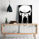 Punisher Wall Canvas Painting (No Frame)