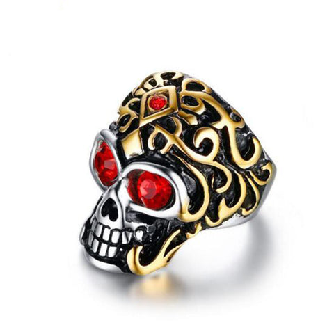 2017 Punk Rock Biker Skull Rings