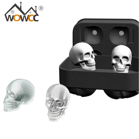 3D Silicone Skull Ice Cube Molds