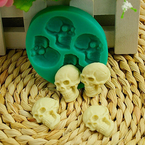 3D Skull Head Silicone Chocolate mold