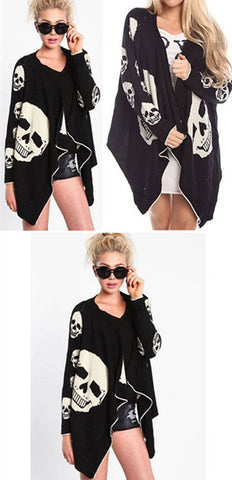 Women Skull Cardigan - Check sizes in the table