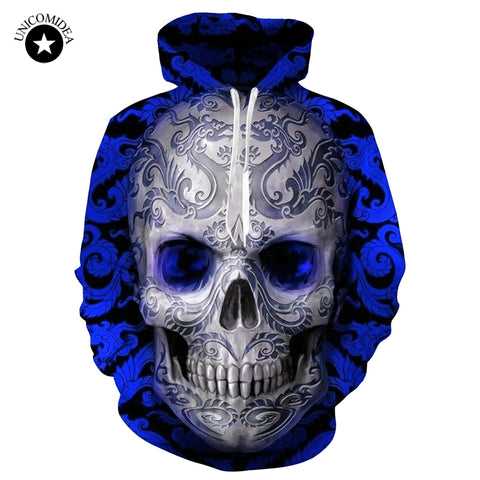 2018 3d Skull Hoodie (EU SIZE - CHECK TABLE)