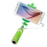 Portable Mini Folding Mobile Phone Wired Self Selfie Sticks