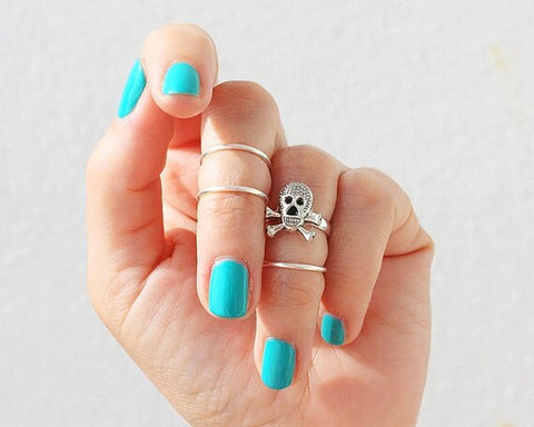 Skull Ring Sets For Women (4 pcs)