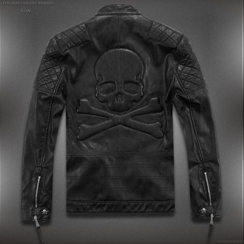High Quality Skull Leather Jacket (Asian Sizes, Check table PLEASE)