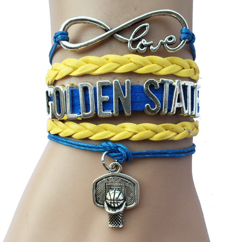 INFINITY LOVE GOLDEN STATE WARRIORS BASKETBALL BRACELET