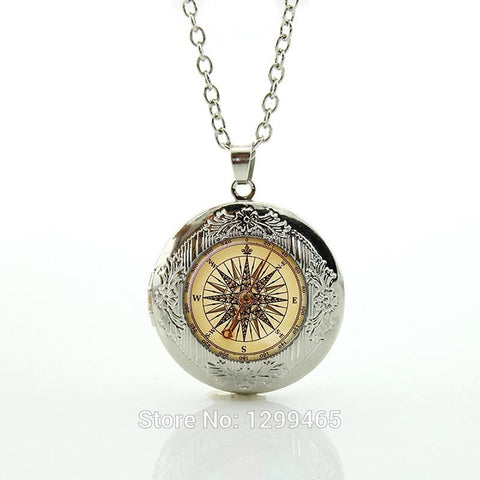 Steam punk compass necklace