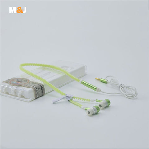 Glow Zipper Earphone