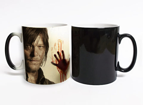 The walking dead Mug color changing Heat Sensitive  Ceramic 11oz coffee cup
