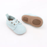 Teal Suede Oxfords
