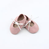 Dusty Rose Suede Mary Jane Sandal
