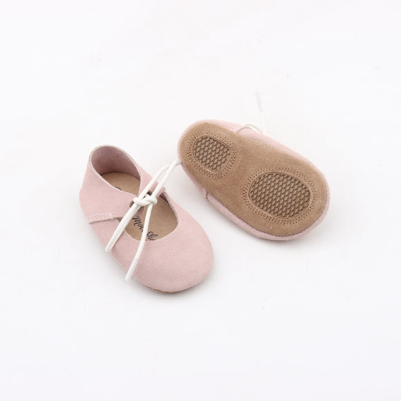 Pink Suede Mary Jane Sandal