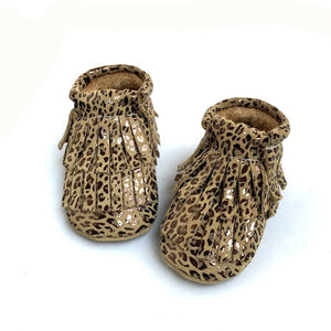 Cheetah Double Fringe Moccs