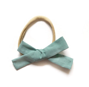 Dusty Teal Fabric Bow