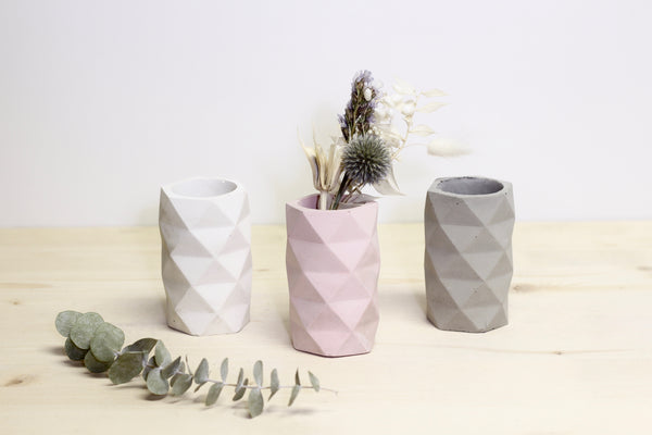 Geometric Faceted Vase