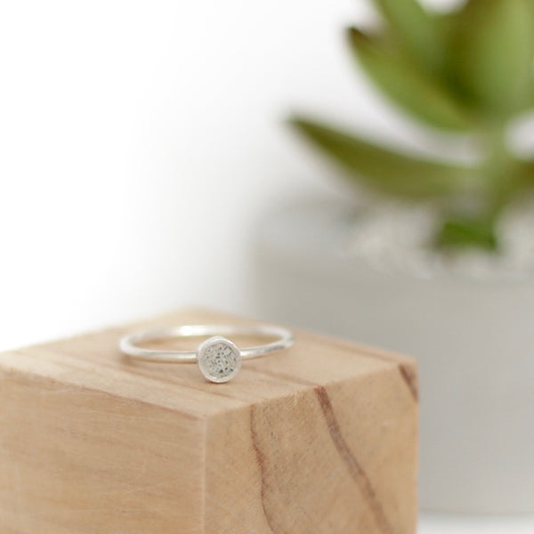 Silver Ring + Concrete