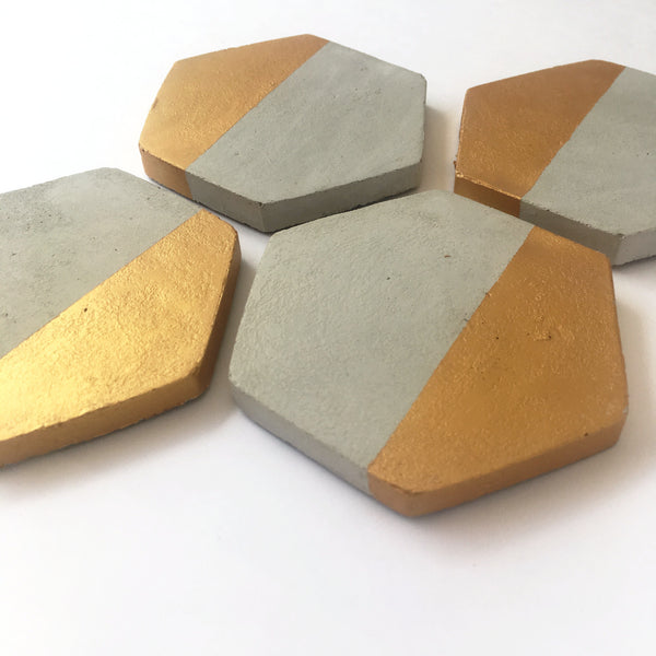 Hexagon Dipped Coasters