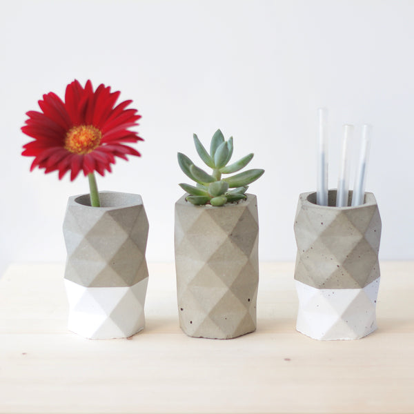 Geometric Flower Vase in Colour | Pen Holder