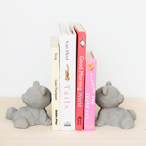 Bear Bookends - Painted Ears