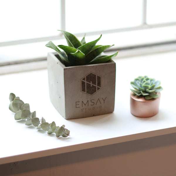 Personalized Square Planters