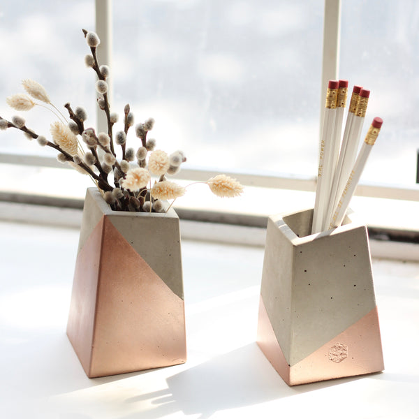 Angled Bud Vases - Colour Blocked