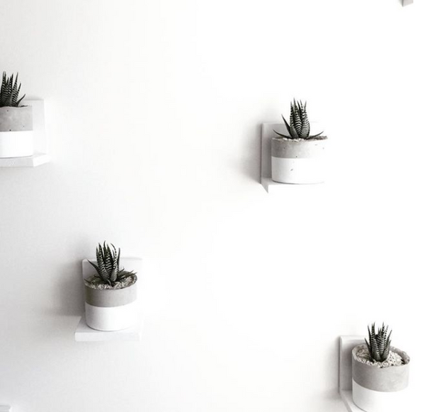 Cylinder Planter in White