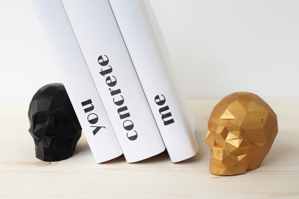 Skull Bookends - Metallic