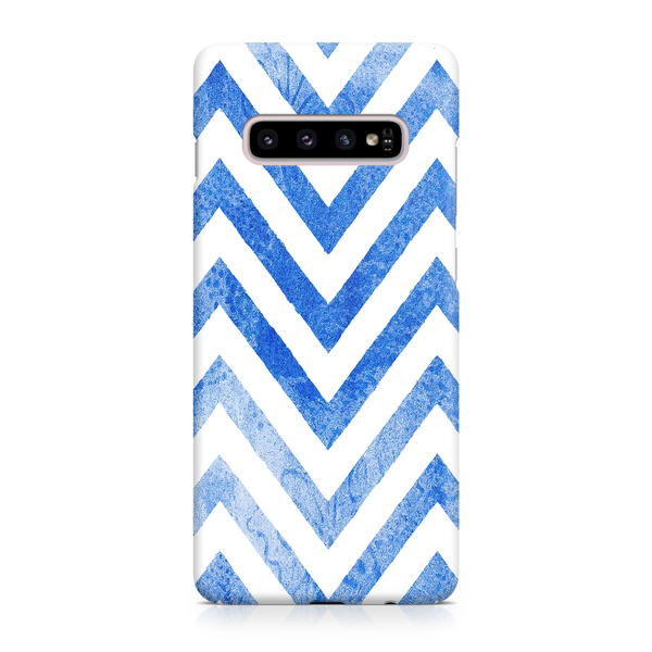 Blue Watercolor Chevrons - Samsung