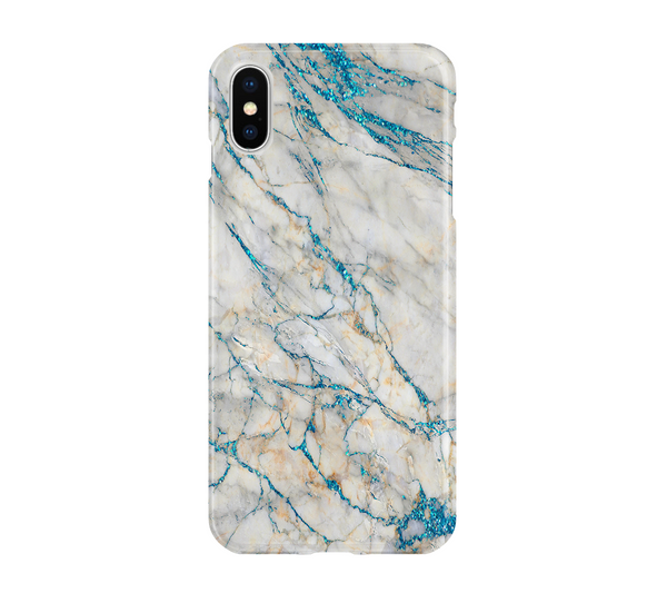 Blue White Marble - iPhone