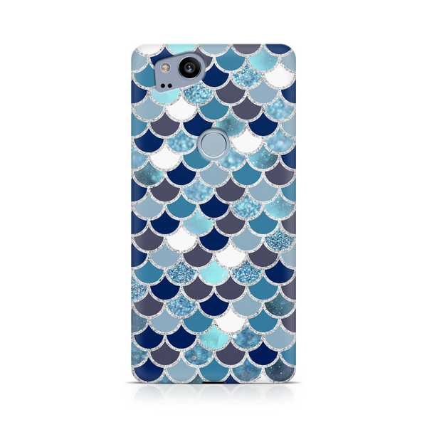 Blue & White Mermaid Scale - Google, LG, OnePlus