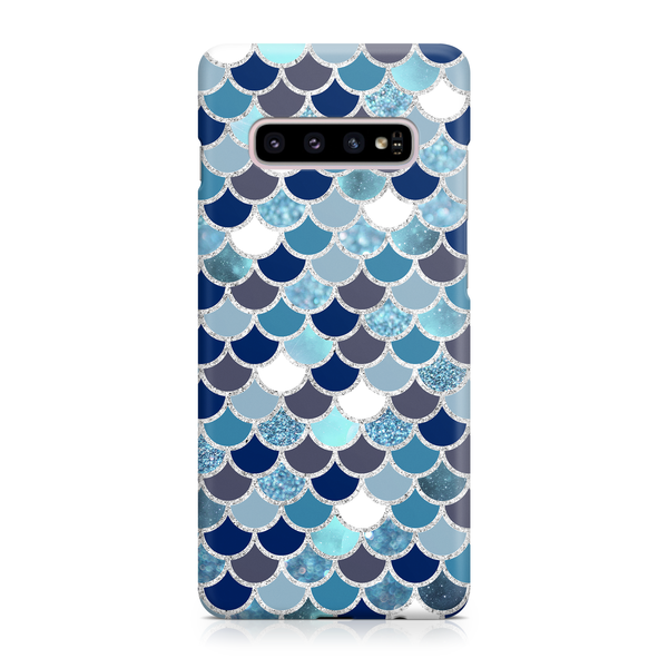 Blue & White Mermaid Scale - Samsung