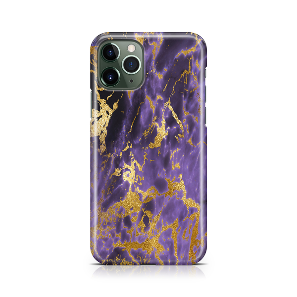 Dark Purple Gold Marble - iPhone